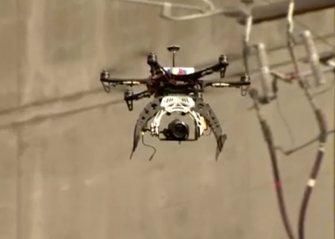 Drone up close